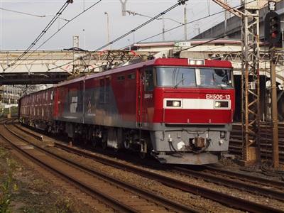 EH500貨物(列車番号不明)。